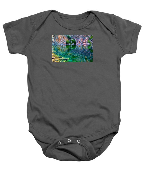 Reflective Pool Baby Onesie