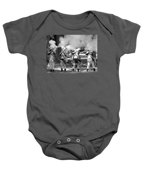 Reliving History-bw Baby Onesie