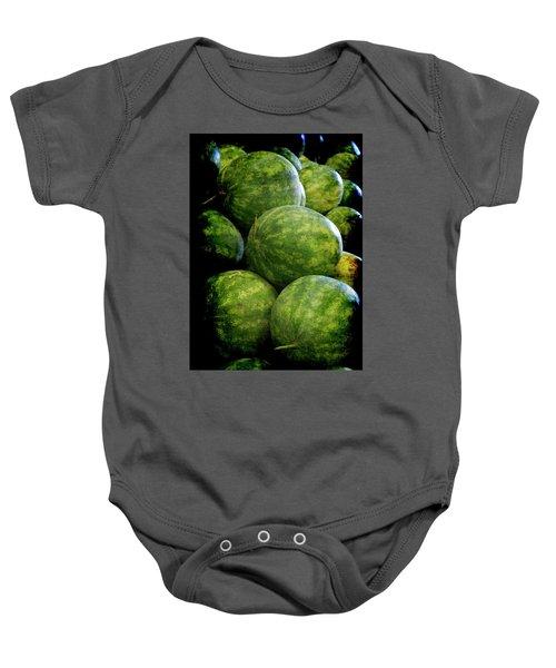 Renaissance Green Watermelon Baby Onesie