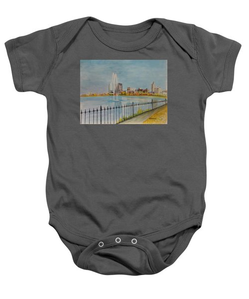 Reservoir In Central Park Baby Onesie