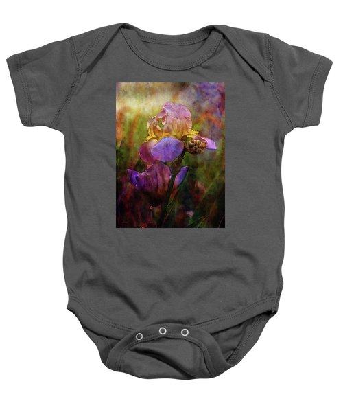 Rich Purple Irises 0056 Idp_22 Baby Onesie