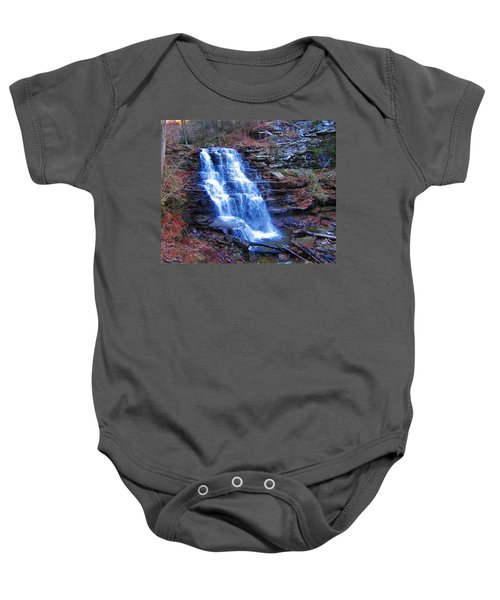 Baby Onesie featuring the photograph Ricketts Glen Waterfall 3941  by David Dehner