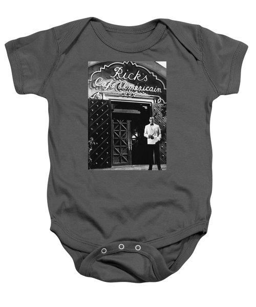 Ricks Cafe Americain Casablanca 1942 Baby Onesie