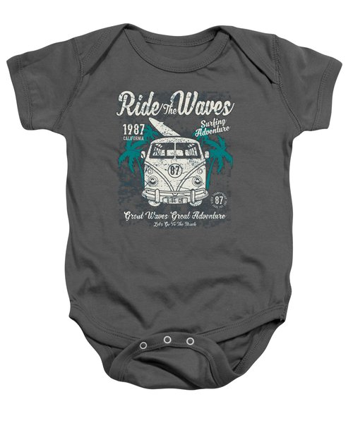 Ride The Waves Baby Onesie
