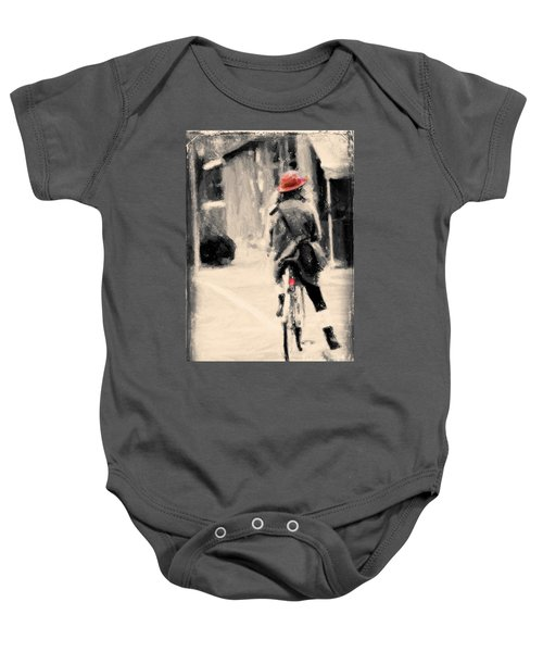 Riding My Bicycle In A Red Hat Baby Onesie