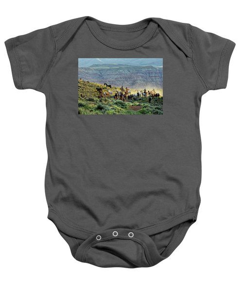 Riding Out Of The Sunrise Baby Onesie