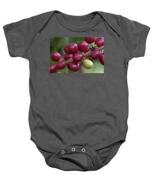 Ripe Kona Coffee Cherries Baby Onesie