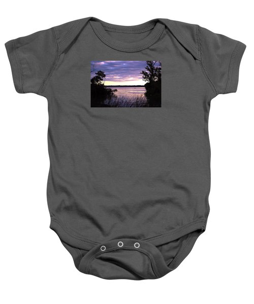 River Sunrise Baby Onesie