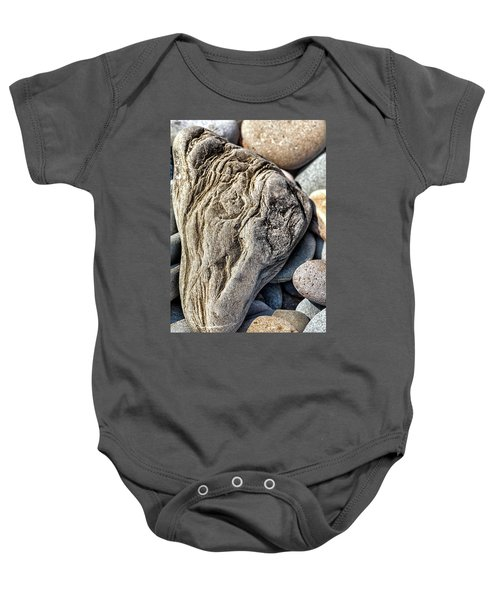 Rivered Stone Baby Onesie