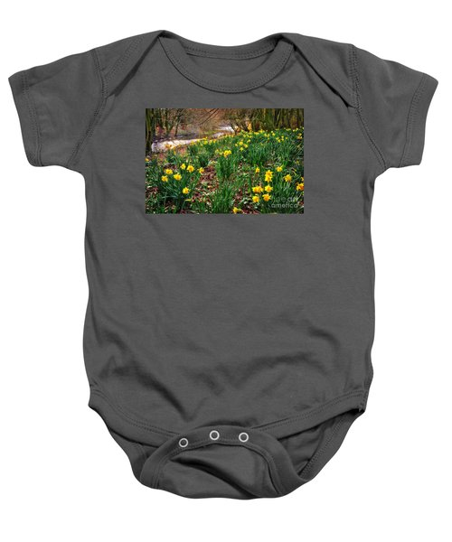 Riverside Daffodils In Spring Baby Onesie