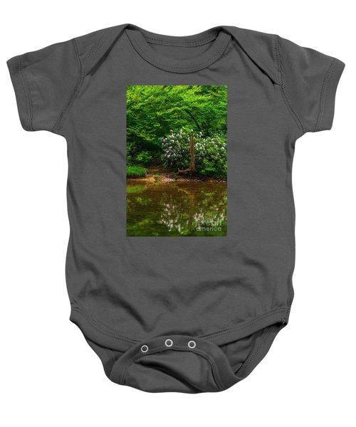 Riverside Rhododendron Baby Onesie