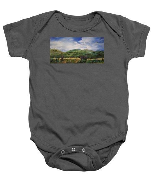 Road To Melrose, Montana         32 Baby Onesie