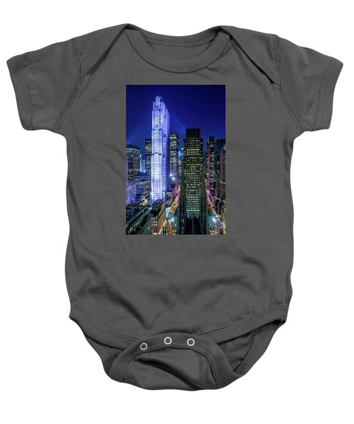 Rockefeller At Night Baby Onesie