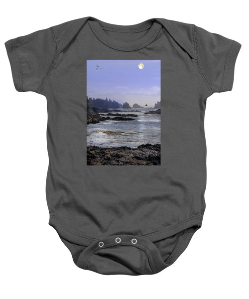 Rocks And Moon And Water Baby Onesie