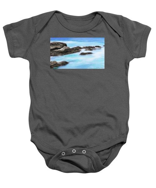 Rocky Ocean Baby Onesie