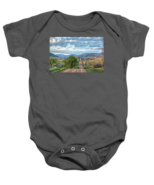 Rollercoaster Country Road Baby Onesie