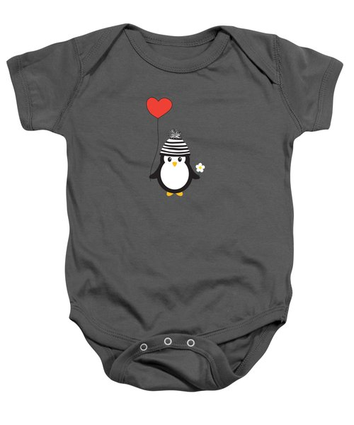 Romeo The Penguin Baby Onesie by Natalie Kinnear