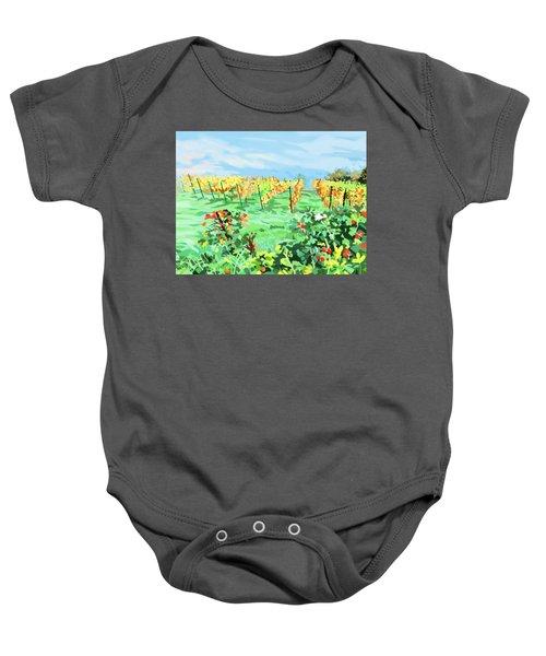 Roosthole Vineyard Baby Onesie by Plum Ovelgonne
