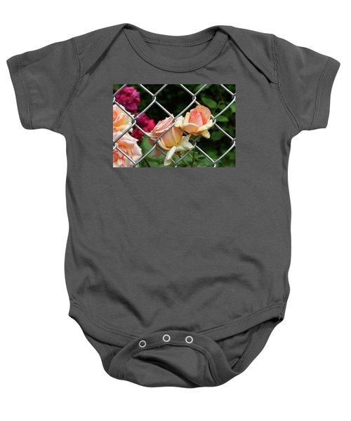 Rose Fence Baby Onesie