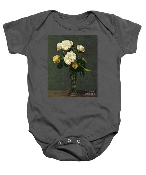 Roses In A Champagne Flute Baby Onesie