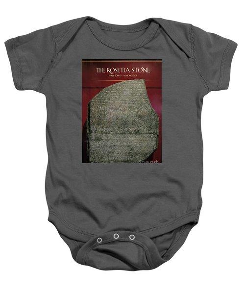 Rosetta Stone Replica Baby Onesie