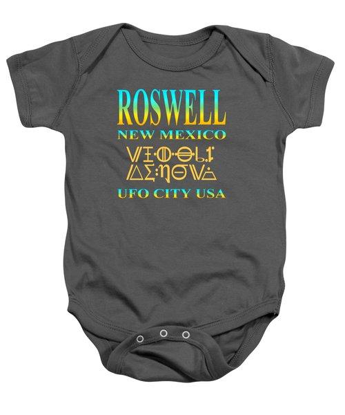 Roswell New Mexico Aliens Design - U. F. O. City U. S. A. Baby Onesie