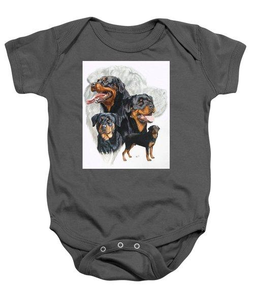Rottweiler Medley Baby Onesie