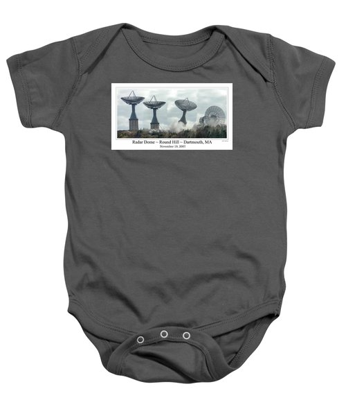 Round Hill Radar Demolition Baby Onesie