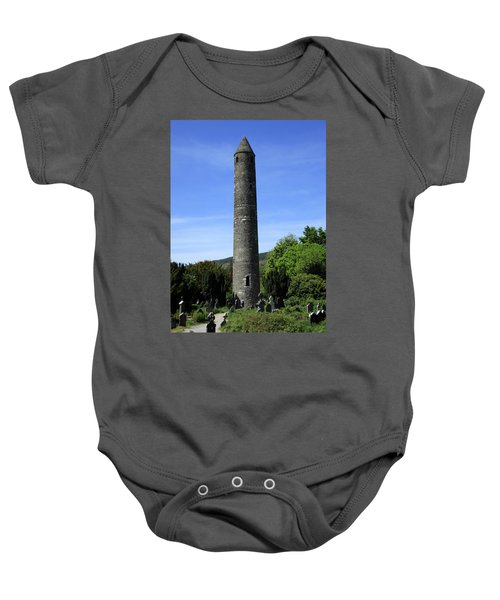 Round Tower At Glendalough Baby Onesie