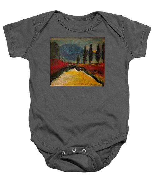 Row Of Cypress Baby Onesie