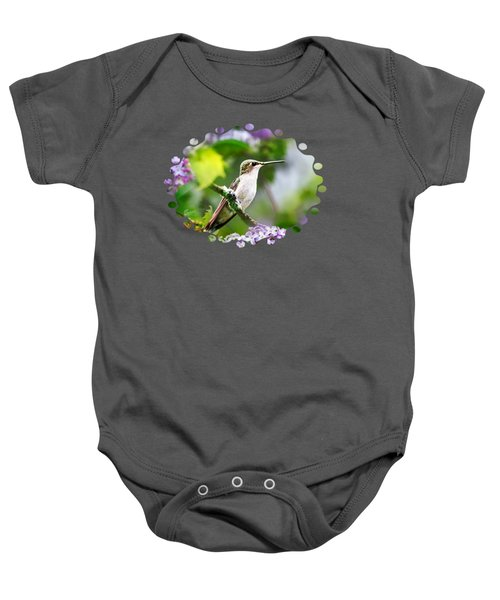 Ruby-throated Hummingbird-1 Baby Onesie by Christina Rollo