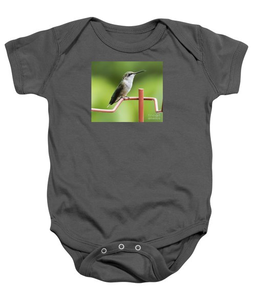 Baby Onesie featuring the photograph Ruby-throated Hummingbird by Ricky L Jones