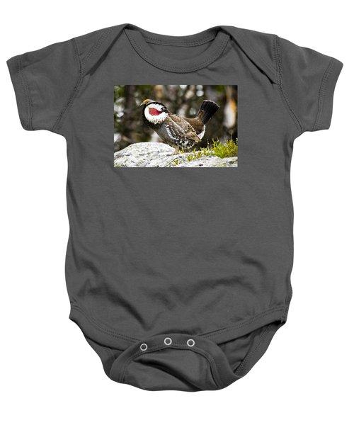 Ruffled Grouse II Baby Onesie