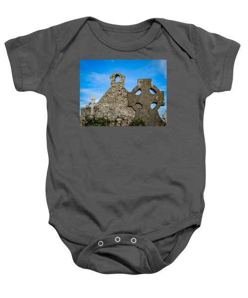 Baby Onesie featuring the photograph Ruins At 12th Century Killone Abbey by James Truett