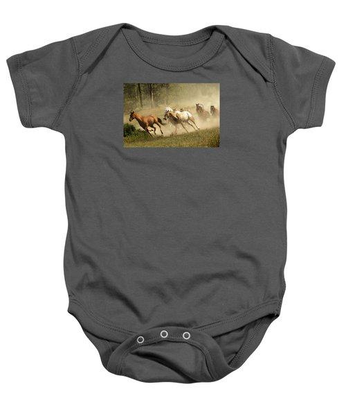 Running Horses Baby Onesie