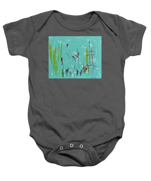 Rushes And Reeds Baby Onesie