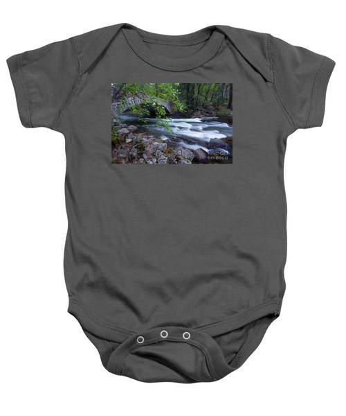 Baby Onesie featuring the photograph Rushing Water by Vincent Bonafede