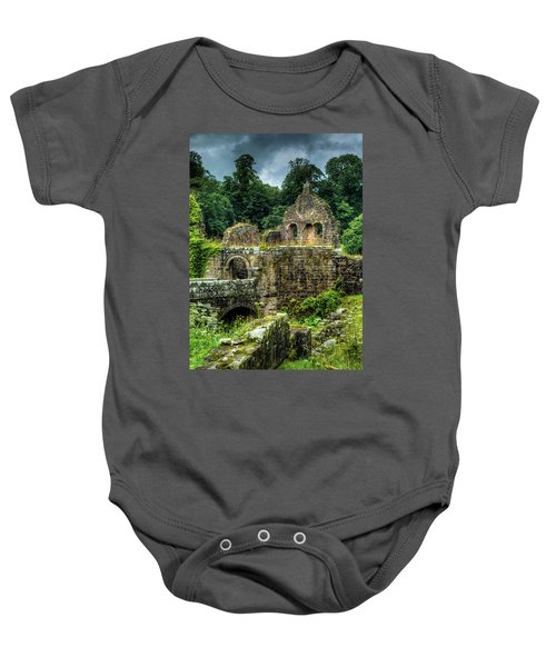 Rustic Abbey Remains Baby Onesie