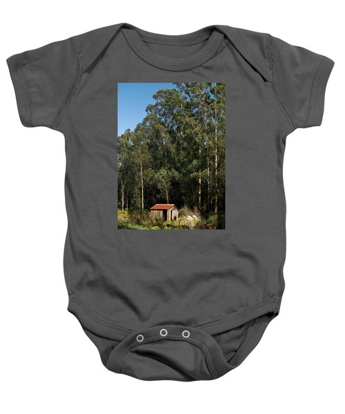 Baby Onesie featuring the photograph Rustic Cabin In Color by Renee Hong