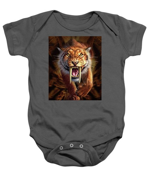 Sabertooth Baby Onesie
