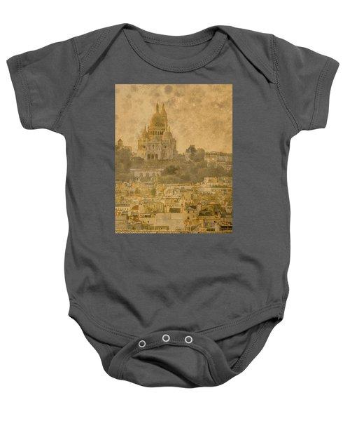 Paris, France - Sacre-coeur Oldplate Baby Onesie