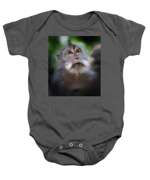 Sacred Monkey Forest Sanctuary Baby Onesie by Larry Marshall