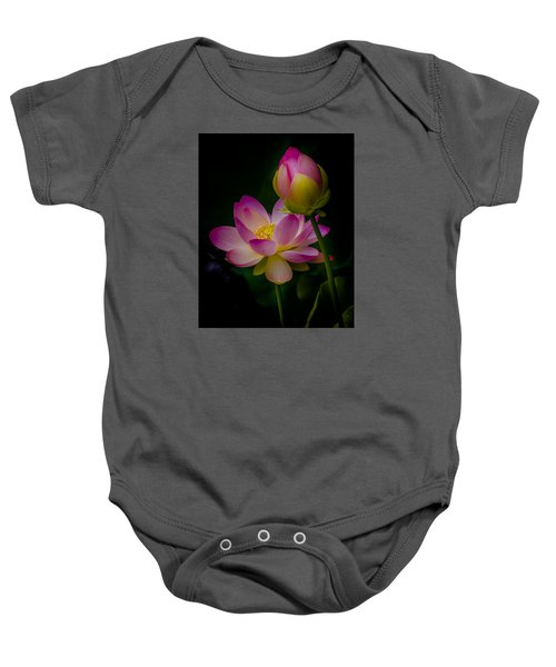 Sacred Water Lily 4 Baby Onesie