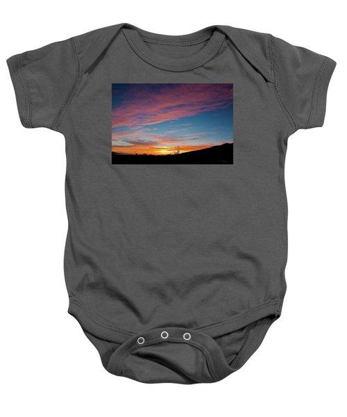 Saddle Road Sunset Baby Onesie