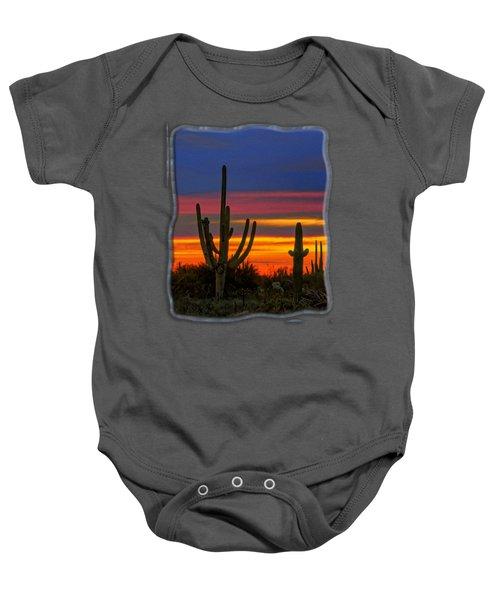 Saguaro Sunset V31 Baby Onesie