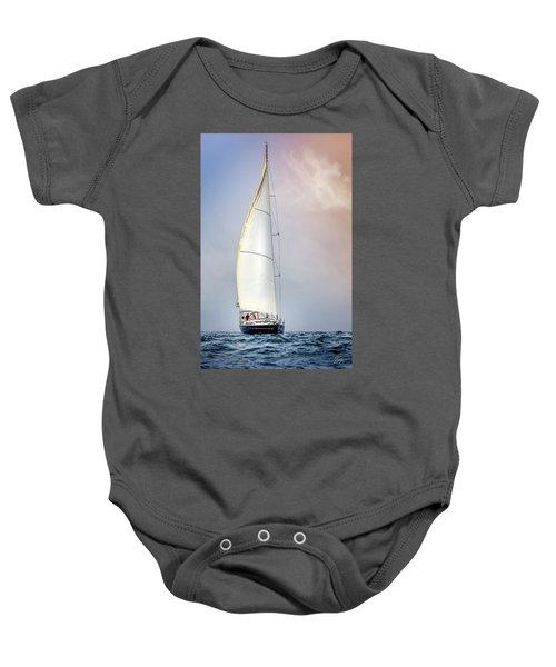 Sailboat 9 Baby Onesie