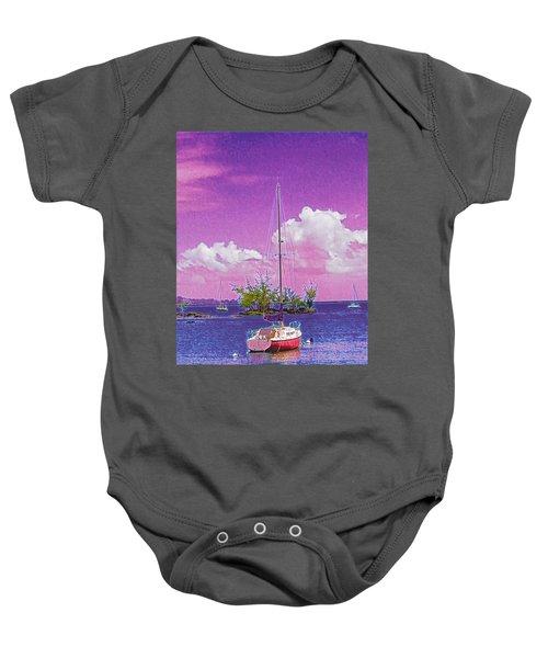 Sailboat At Reeds Bay Hilo Aloha Baby Onesie