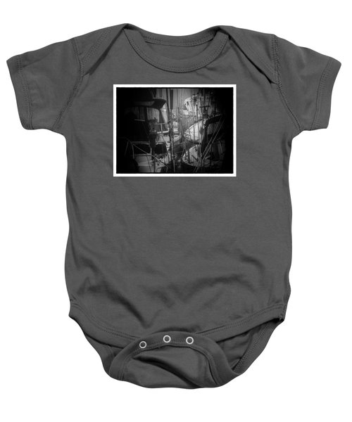 Sailboats Berthed In The Fog Baby Onesie