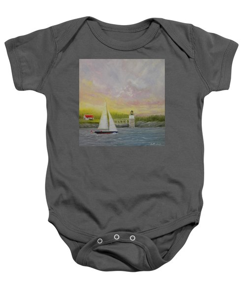 Sailing By Ram Island Baby Onesie
