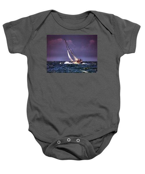 Sailing To Nantucket 001 Baby Onesie